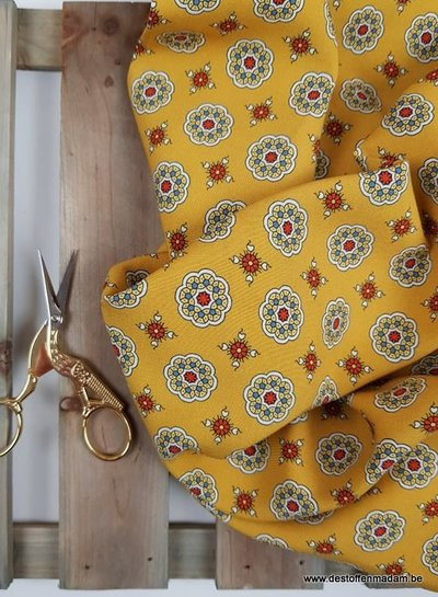 yellow mandana flowers - Italian viscose