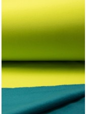 Lime petrol double face softshell