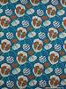 klaprozen turquoise -  viscose tricot