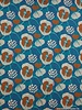 turquoise roses - viscose jersey
