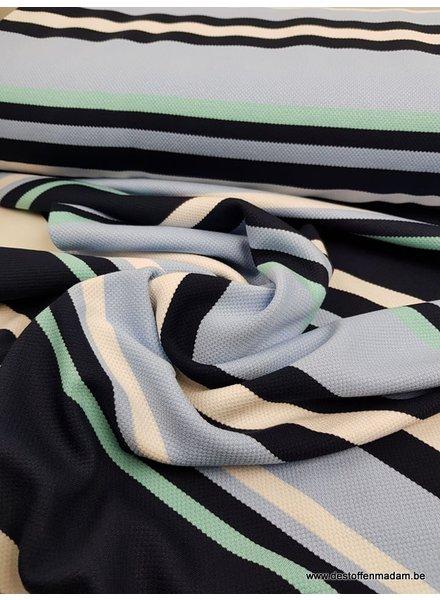 blue stripes - polo pique