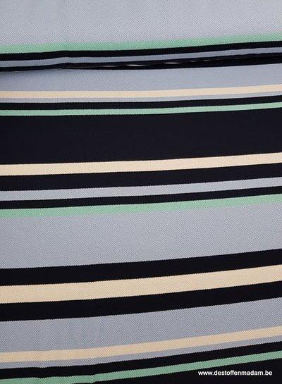 blauwe streepjes - polo pique