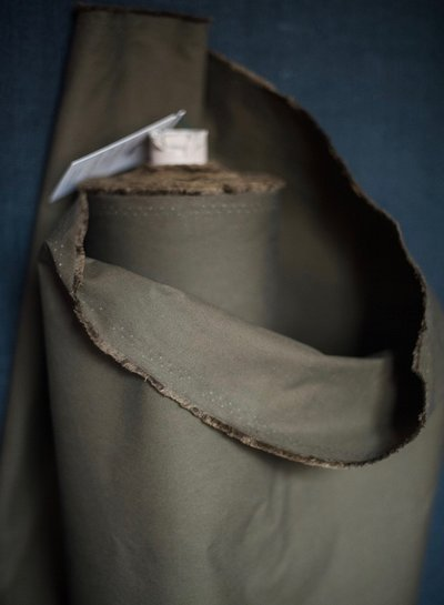 Merchant & Mills dry oilskin - khaki