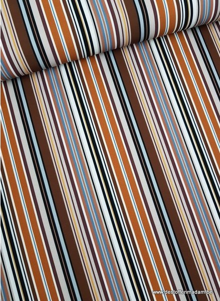 warm stripes - stretch polyester fabric