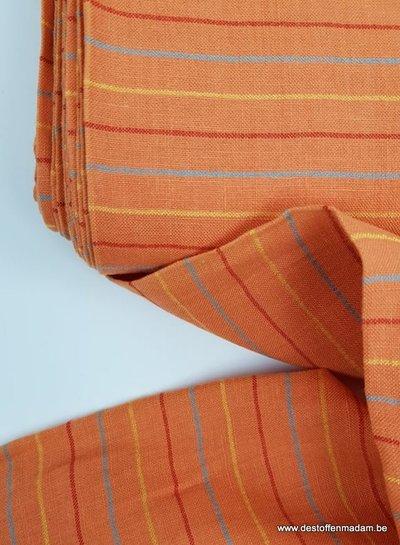 oranje strepen - Italiaanse  linnen