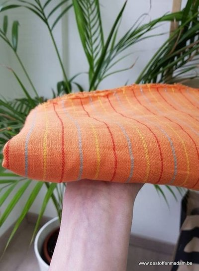 orange stripes - Italian linen