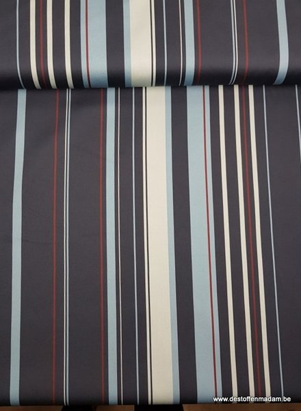 blue stripes - Italian stretch cotton