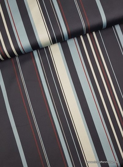 blauwe strepen - Italiaanse stretch katoen
