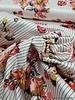 Italian satin stretch cotton  - stripes and cotton