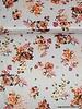 Italiaanse satijn stretch katoen - streepjes en bloemetjes