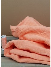 salmon - stonewashed ramie