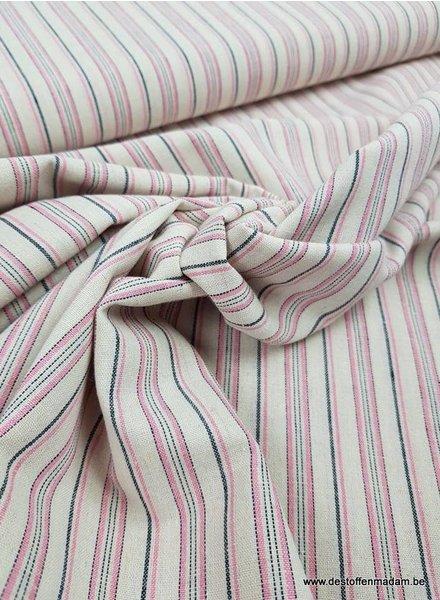 roze gerecycleerde katoen  - linnen touch