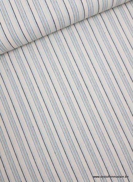 blauwe gerecycleerde katoen  - linnen touch