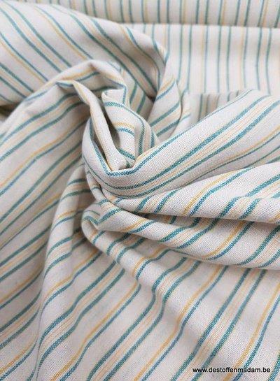 groen en geel gerecycleerde katoen  - linnen touch
