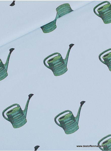 watering Cans - fog blue - french terry