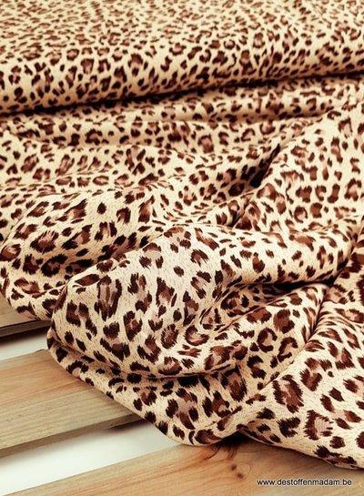 leopard print brown - viscose