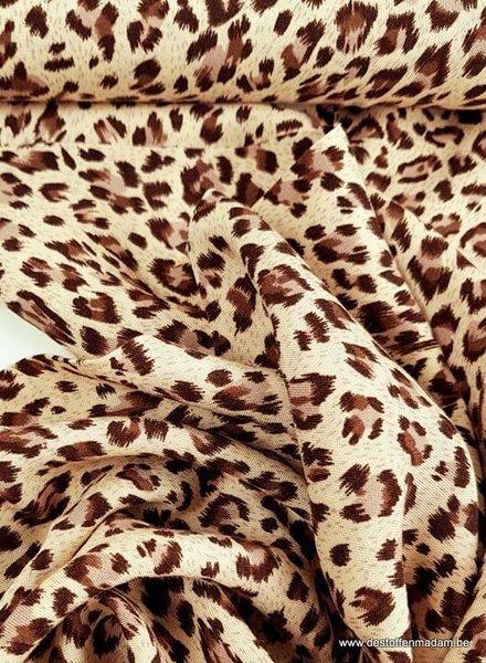 bruin luipaard print - viscose