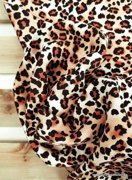 roest luipaard print - viscose