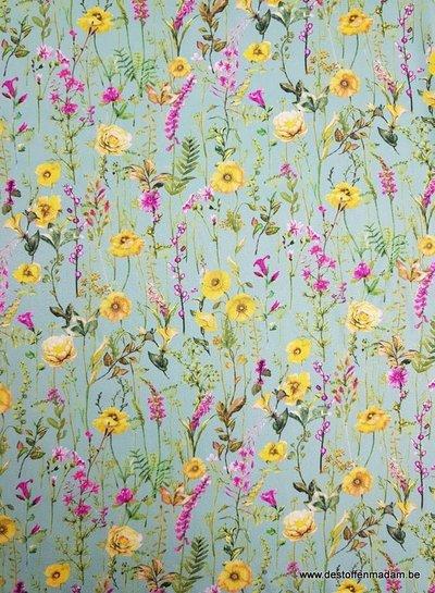 LMV munt bloemen - viscose