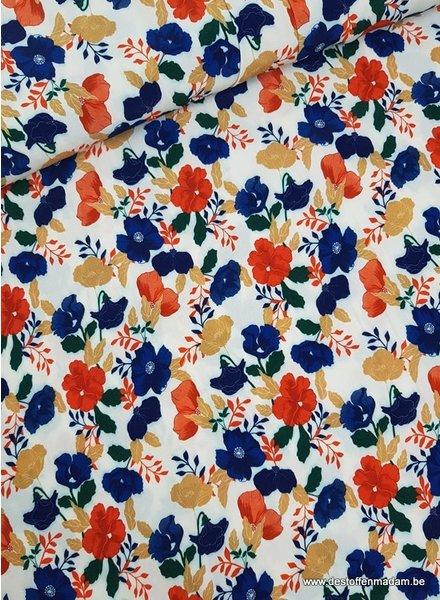 retro bloemen - viscose