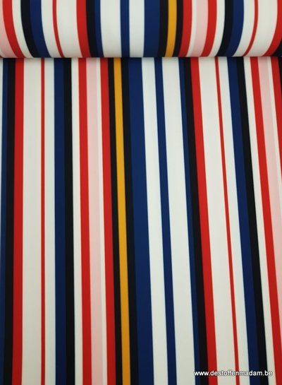 multi color stripes - scuba crêpe