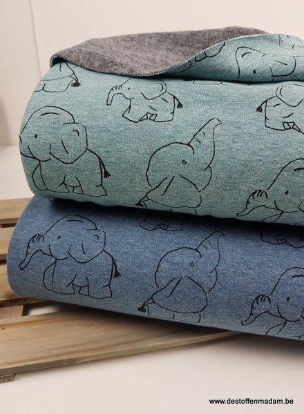 dombo blauw - dunne happy fleece