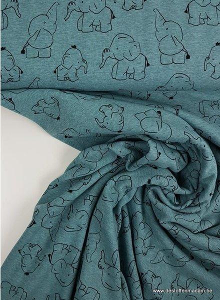 dombo turquoise - dunne happy fleece