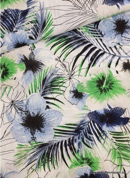 spring flowers - soft cotton viscose