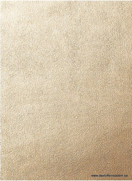 imitation leather mat - champagne