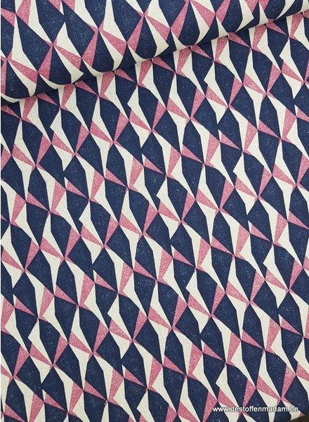driehoeken paars - decoratie stof