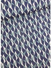 triangles green - deco fabric