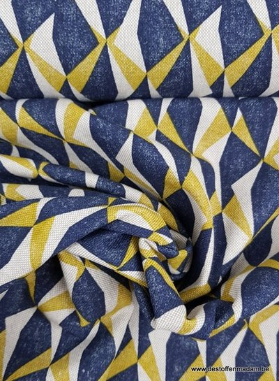 driehoeken oker - deco stof