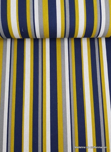 stripes ochre - deco fabric