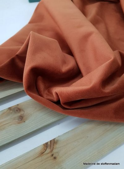 rust velvet - deco fabric