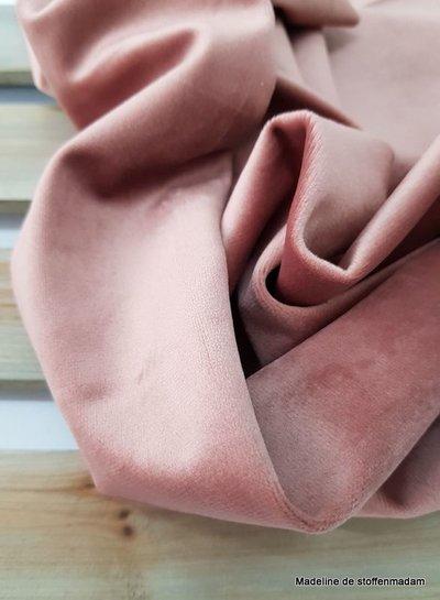 oudroze velvet - deco stof