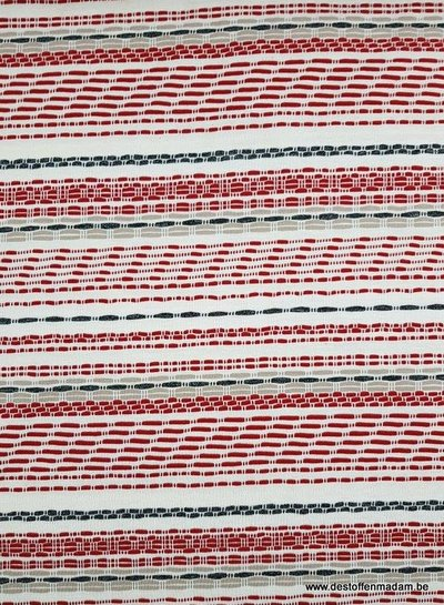 red dashed lines - viscose jersey