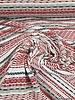 250 cm - rode onderbroken streepjes - viscose tricot