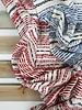 rode onderbroken streepjes - viscose tricot