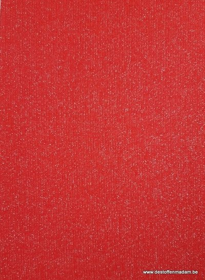 red glitter - french terry