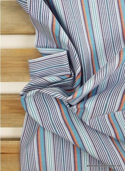 rusty striped - supermooie katoen - hemdenkwaliteit