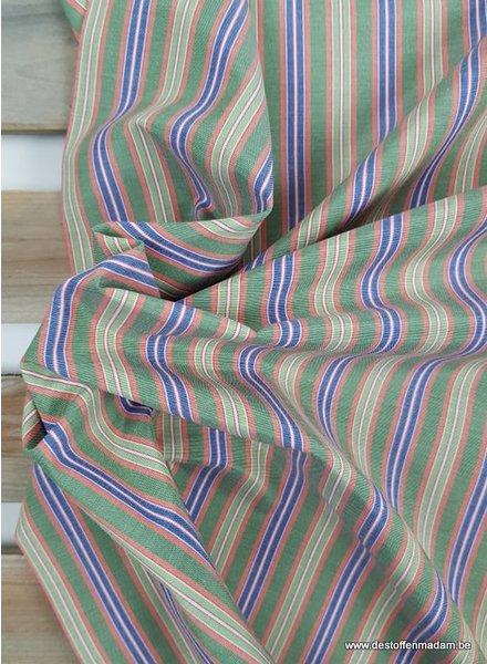 lime striped - supermooie katoen - hemdenkwaliteit