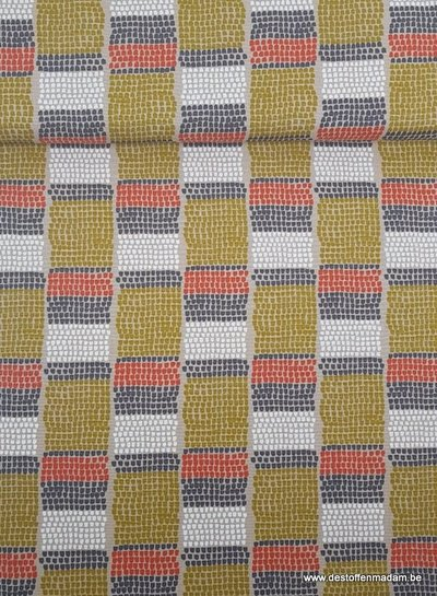 taupe dotty - deco stof