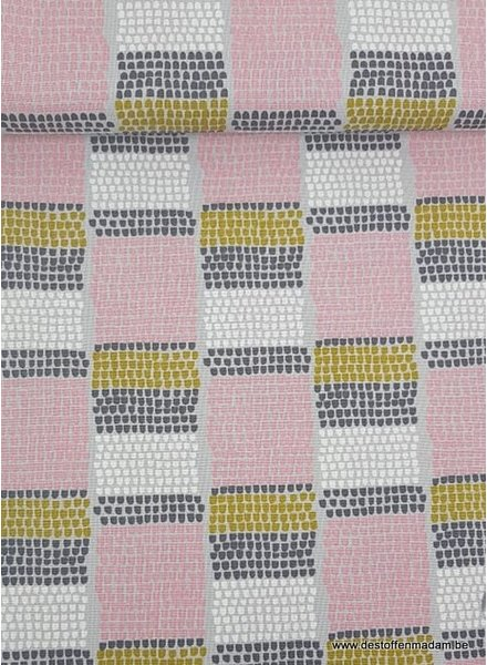 pink/grey dotty - deco fabric