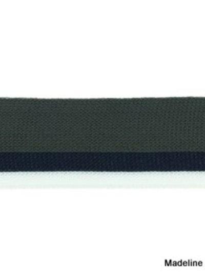 antraciet-donkerblauw-wit lint zijkant broek