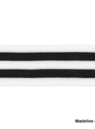 zwart-wit lint zijkant broek
