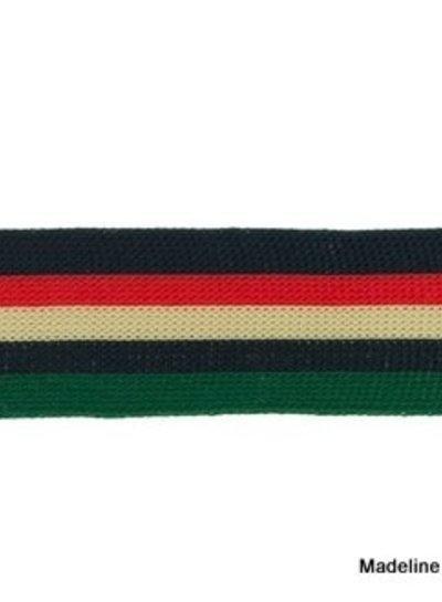 marine-rood-zand-groen lint zijkant broek