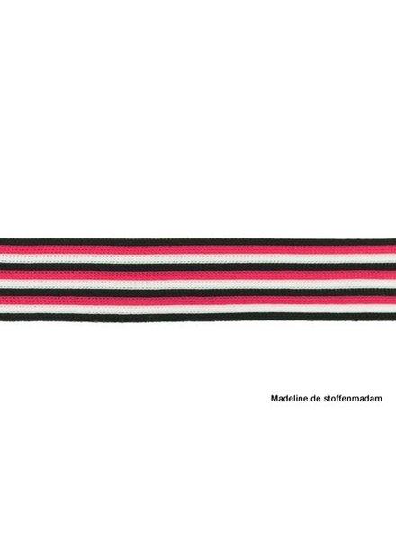 zwart-fuchsia-wit lint zijkant broek