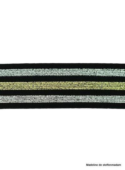 zwarte glitter gestreepte taille-elastiek