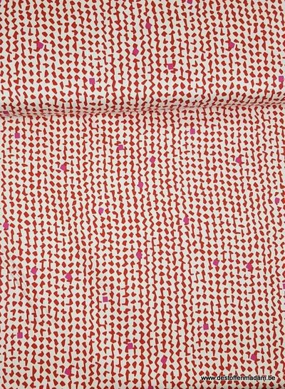 red spots - stretch cotton