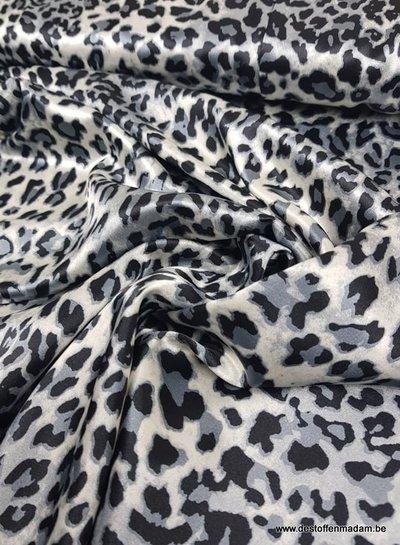 leopard print blue - satin